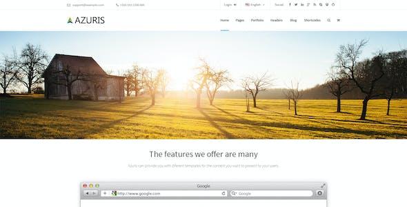 Azuris - Multipurpose PSD Template