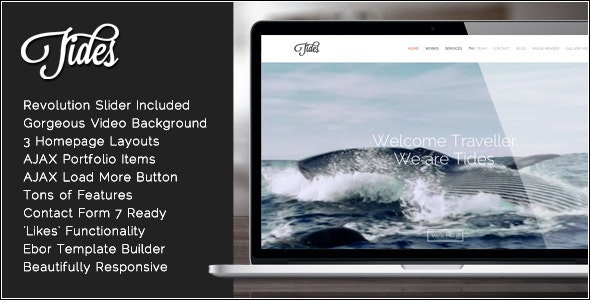 Tides - Fullscreen Video One-Page WordPress Theme - Portfolio Creative