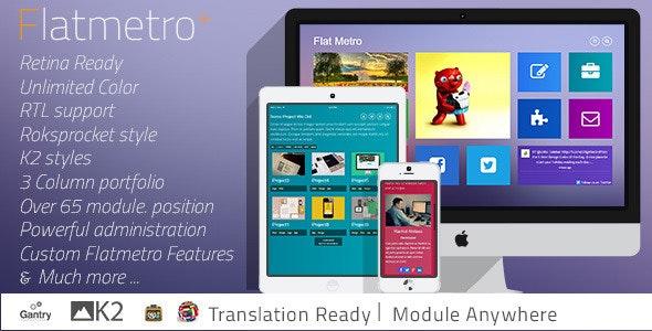 Flat-Metro - Responsive Multi-Purpose Joomla Theme - Creative Joomla