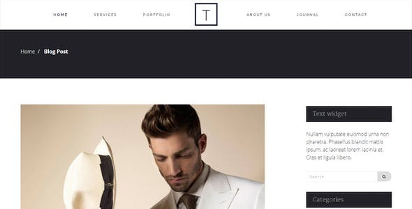 T-ONE Clean & Minimal Template