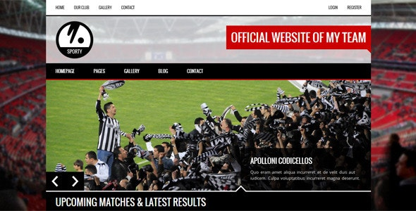 SPORTY - Responsive HTML5 Template for Sport Clubs - Nonprofit Site Templates