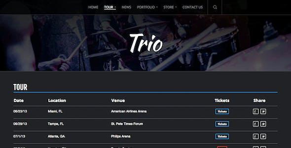Trio - Band WordPress Theme