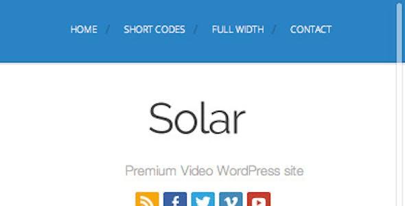 Solar - Video WordPress Theme