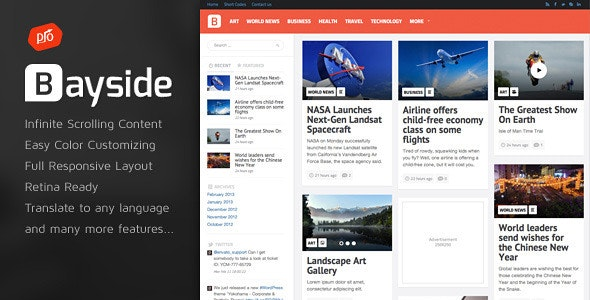 Bayside - Responsive WordPress Theme - News / Editorial Blog / Magazine