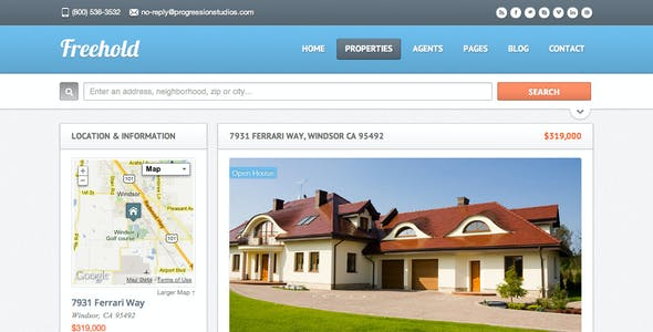Freehold - Real Estate Site Template
