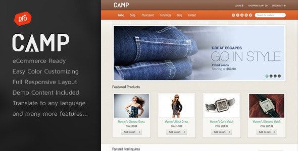 Camp - Responsive eCommerce Theme - WooCommerce eCommerce