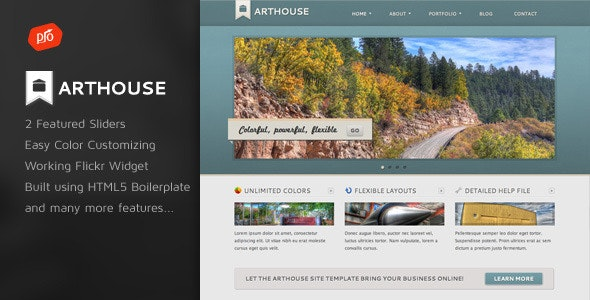 Arthouse - Premium Business & Portfolio Template - Portfolio Creative