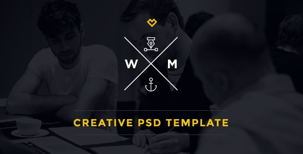 W&M | One Page Multi-Purpose PSD Template - Creative Photoshop