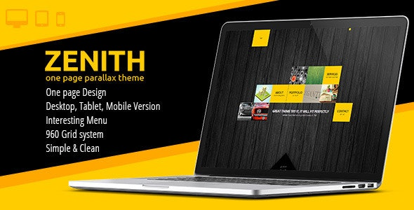 Zenith - One Page Parallax Template - Creative Muse Templates