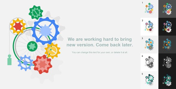 Animated 404 or Maintainance Page