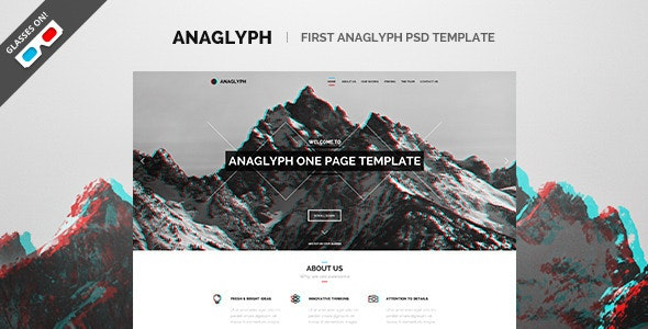 Anaglyph - PSD Template - Creative PSD Templates