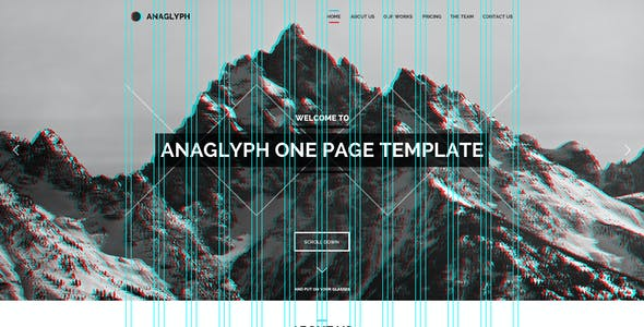 Anaglyph - PSD Template