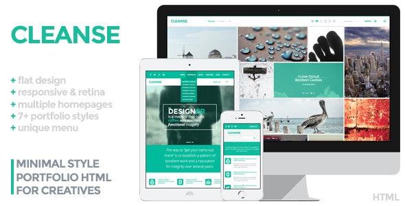 Cleanse - Minimal Portfolio HTML Template - Portfolio Creative