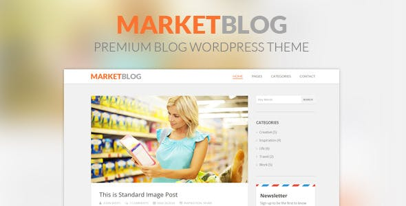 MarketBlog - Premium Blog WordPress Theme