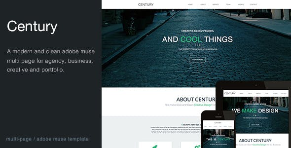 Century - Agency Multi Page Muse Template