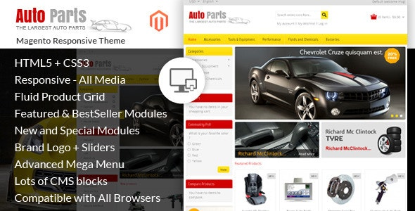 Auto Parts - Tools Magento Theme - Magento eCommerce