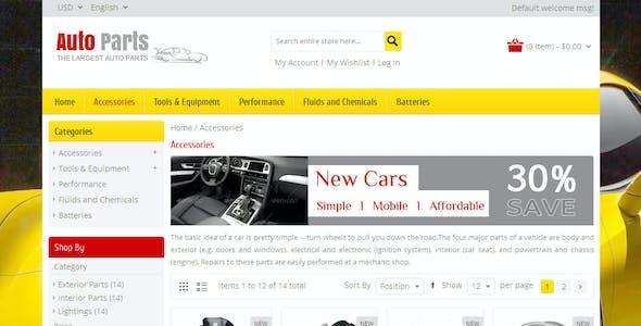 Auto Parts - Tools Magento Theme