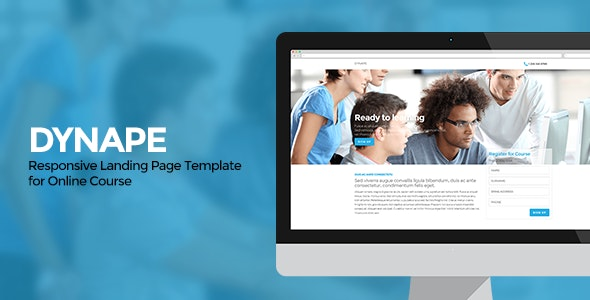 Dynape - Responsive Landing Page for Course - Business Corporate
