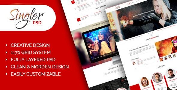 Singler One Page Portfolio PSD Template - Portfolio Creative