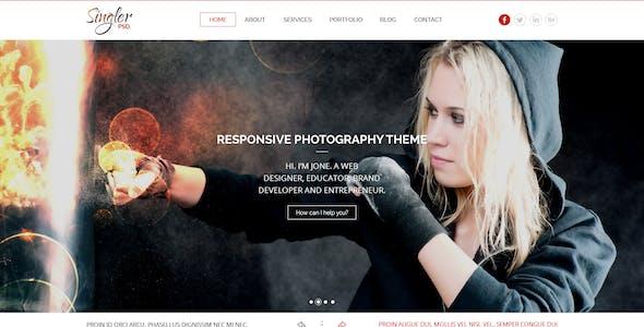 Singler One Page Portfolio PSD Template