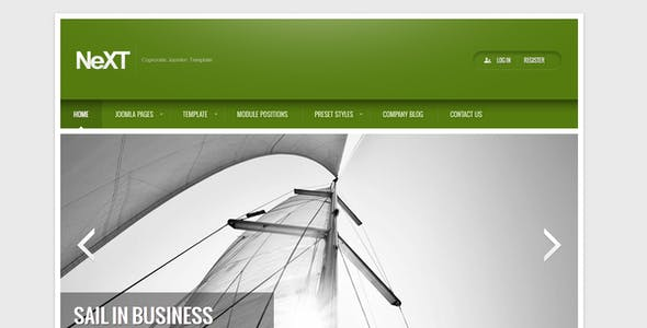 NeXT Clean Corporate Joomla! Template
