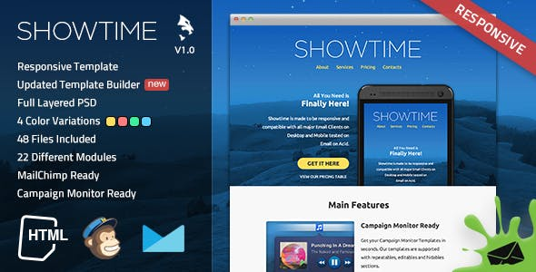 Showtime Responsive Email Template
