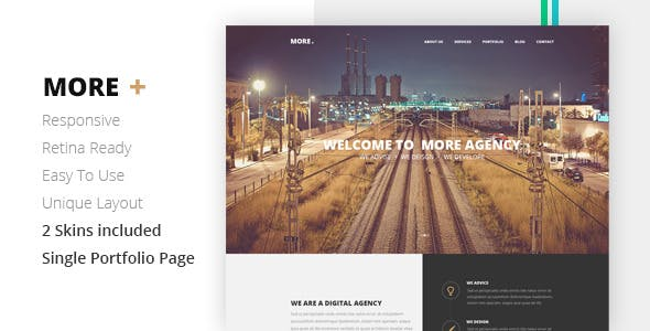 MORE Creative One Page Template