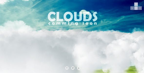 Clouds - 3d Interactive Coming Soon Page
