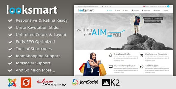 LookSmart - Responsive Multi-Purpose Joomla Theme