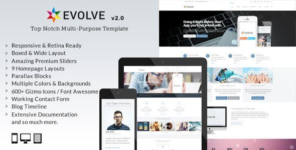 Evolve - Responsive Multi-Purpose Website Template - Corporate Site Templates