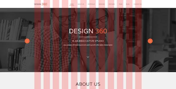 Design 360 - Single Page PSD Template