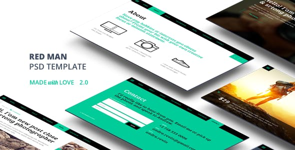 Redman One Page PSD Template