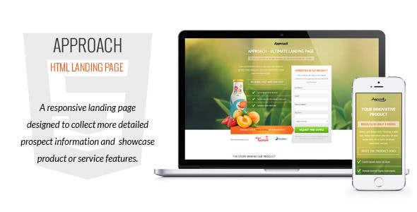 Approach - HTML Landing Page