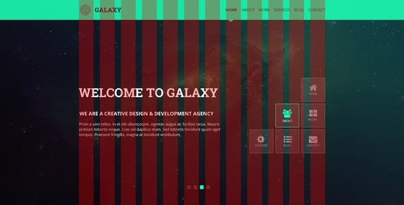 Galaxy   One Page Multipurpose PSD Template