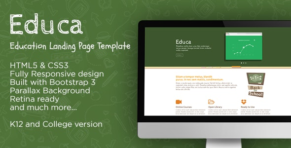 Educa - Education Landing Page Template - Corporate Landing Pages