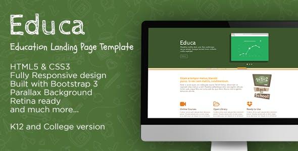 Educa - Education Landing Page Template