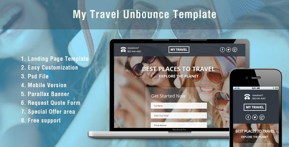 Custom Background Image Unbounce Landing Pages From Themeforest