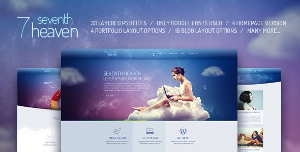 Seventh Heaven — PSD Template - Photoshop UI Templates