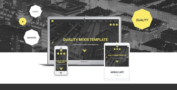 Download Duality - MODX One Page Theme