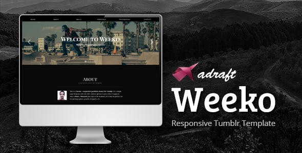 Weeko - Responsive Portfolio Tumblr Theme