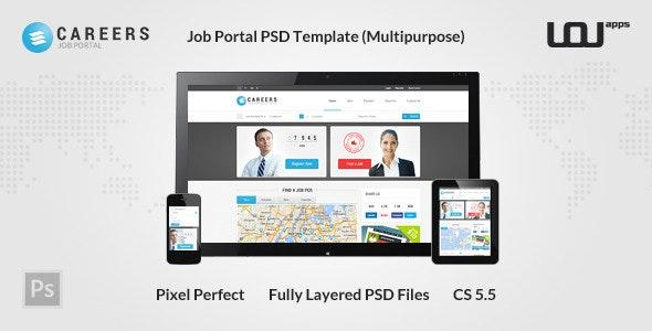 CAREERS - Job Portal PSD Template (Multipurpose) - Miscellaneous Photoshop