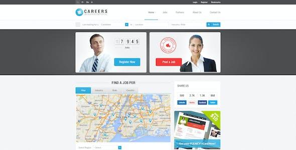 CAREERS - Job Portal PSD Template (Multipurpose)