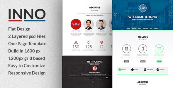 Inno- Creative PSD Template - Creative Photoshop