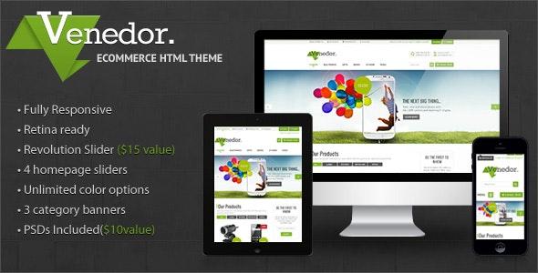 Venedor - Premium Bootstrap Ecommerce HTML5 Template - Shopping Retail