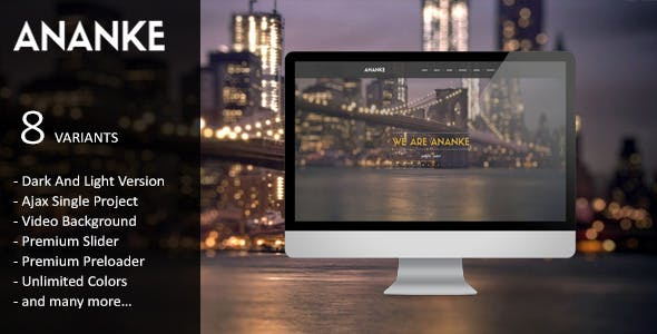 Ananke - Parallax One Page HTML Template
