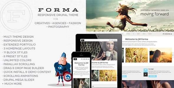Forma, Creative, Fashion, Photogrpahy Drupal Theme