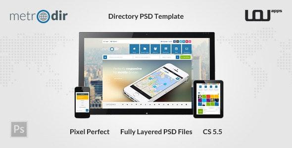 METRODIR -  Directory PSD Template  - Miscellaneous Photoshop