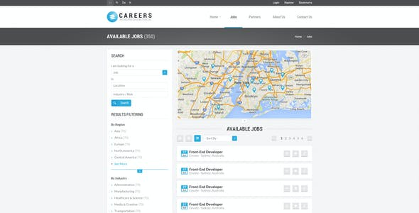 CAREERS - Job Portal & Candidate Database (HTML)