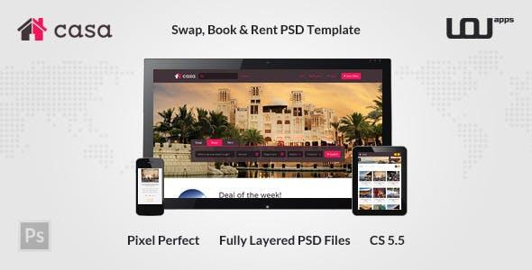 Casa - Swap, Book & Rent PSD Template