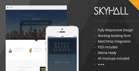 Skyhall - Business Event Landing Page